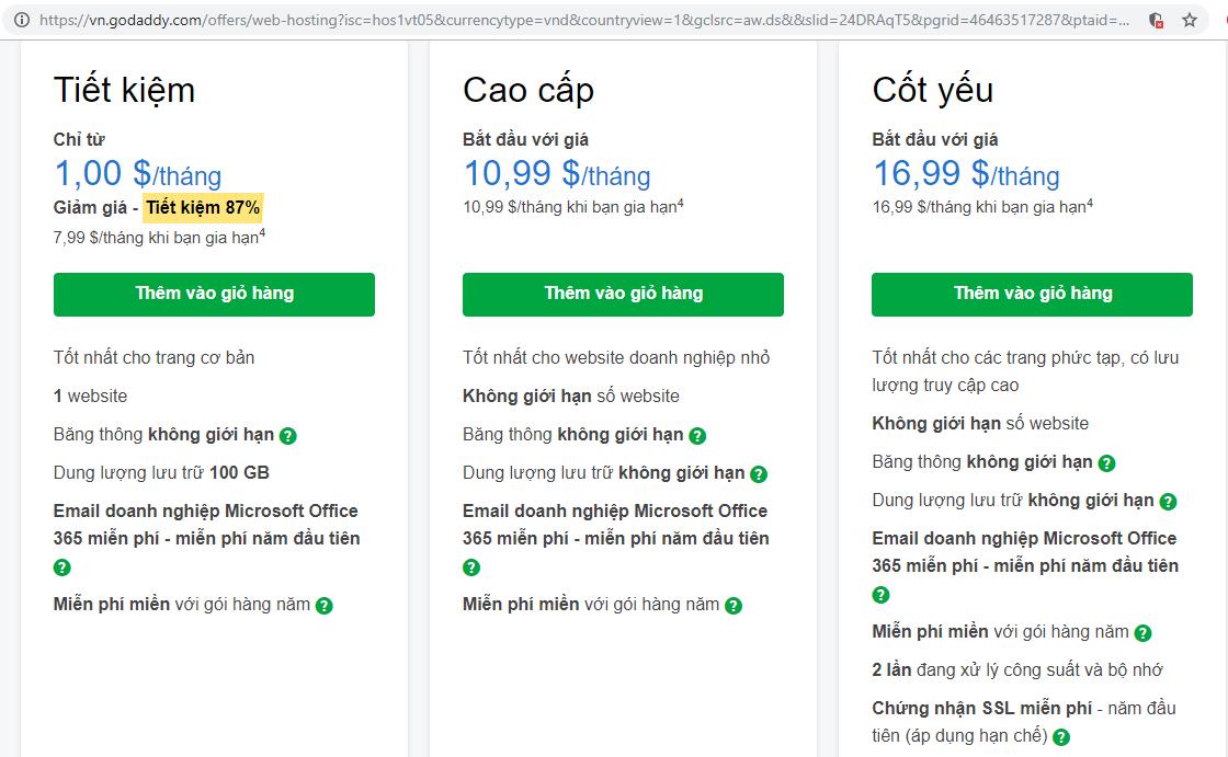 economy-web-hosting-godaddy