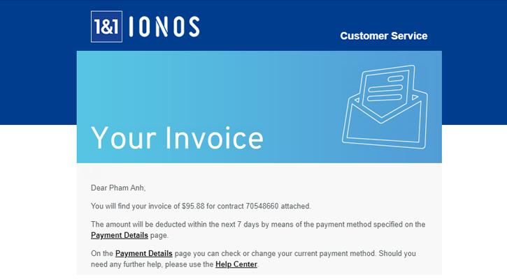 Hướng dẫn tắt tự động gia hạn hosting trên 1and1 (ionos.com)