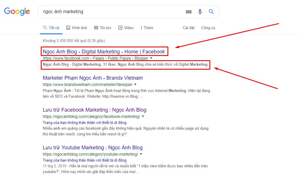 seo facebook len top google