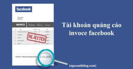 Tài khoản quảng cáo invoice