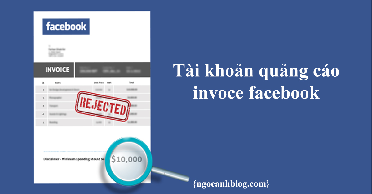 Tài khoản invoice (voi) facebook là gì?