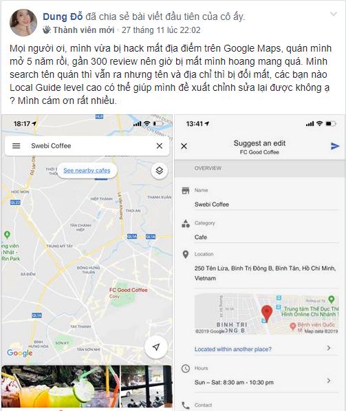 bị cướp vị trí google maps