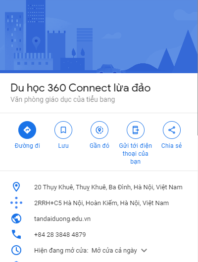 Thương hiệu bị bôi xấu trên google maps