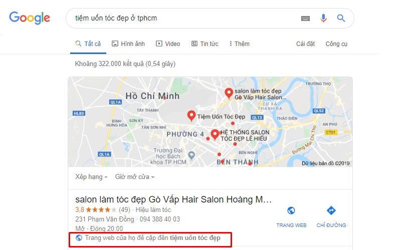 thủ thuật seo địa điểm