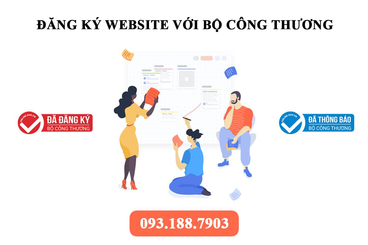Dịch vụ thông báo – đăng ký website với bộ công thương