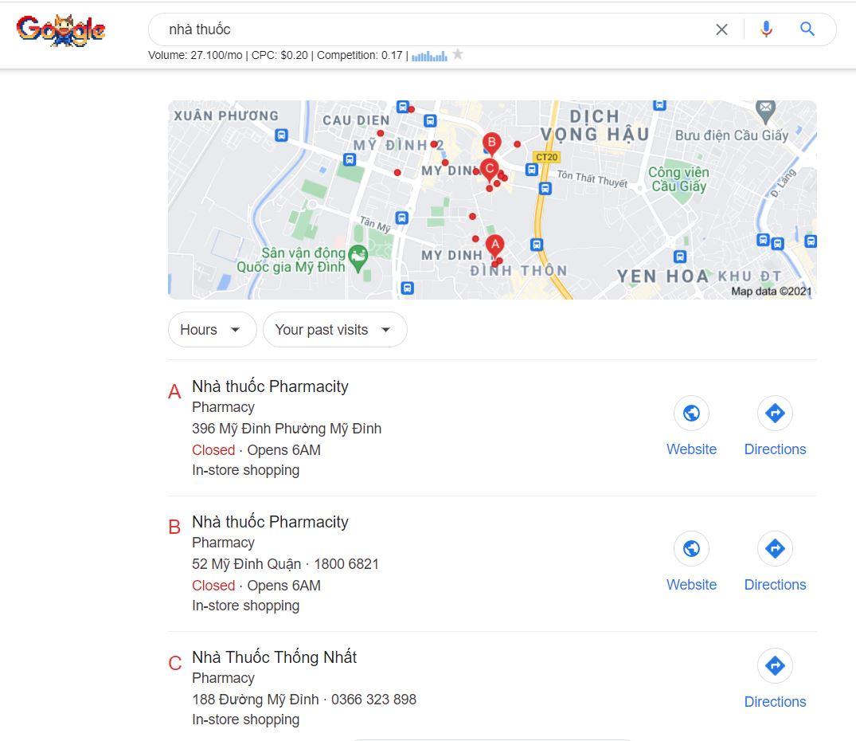 Tạo google map để marketing cho nhà thuốc